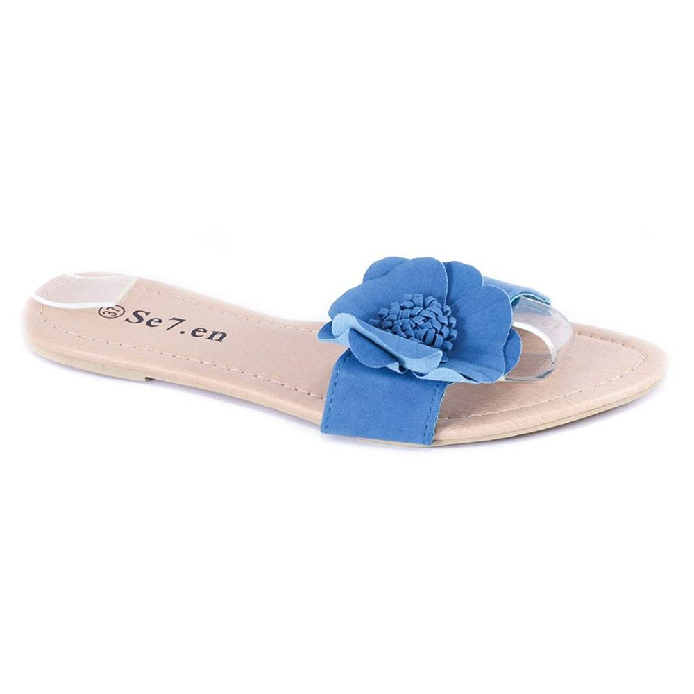 Papuci albastri de dama 3226