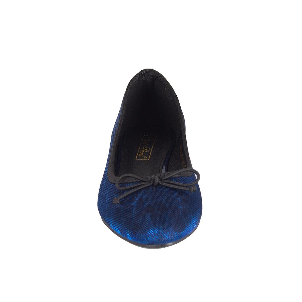 Balerini albastri cu fundita WH-1F048-18A