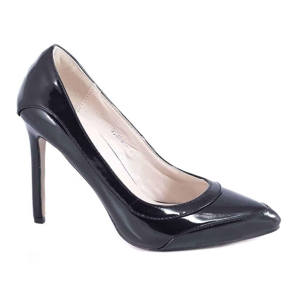 Pantofi dama negri cu toc QJ305-7N