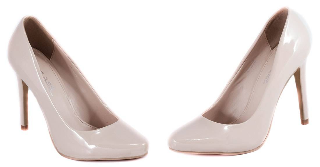 Pantofi nude cu toc 51598-Nude