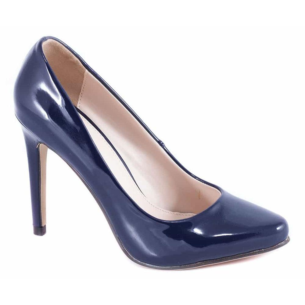 Pantofi navy cu toc 51598-Navy