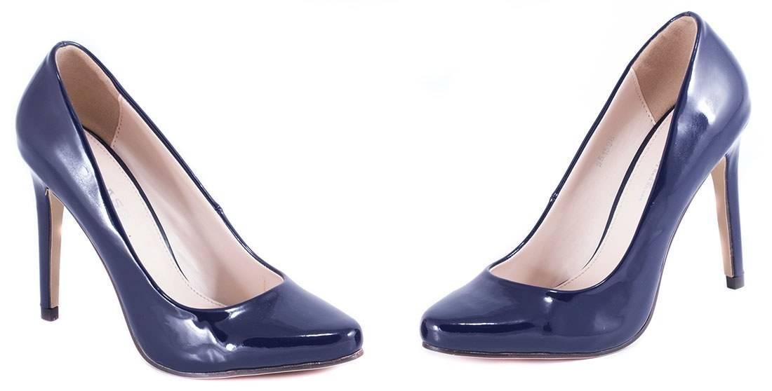 Pantofi dama cu toc 51598-NAVY