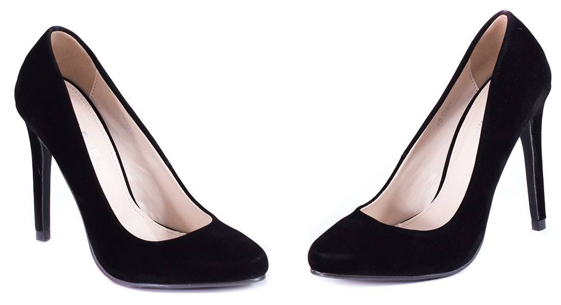 Pantofi negri cu toc 51598N