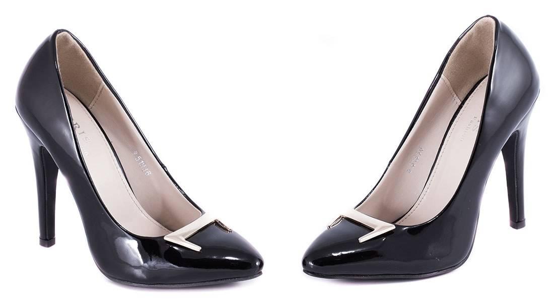 Pantofi negri cu toc 51936N