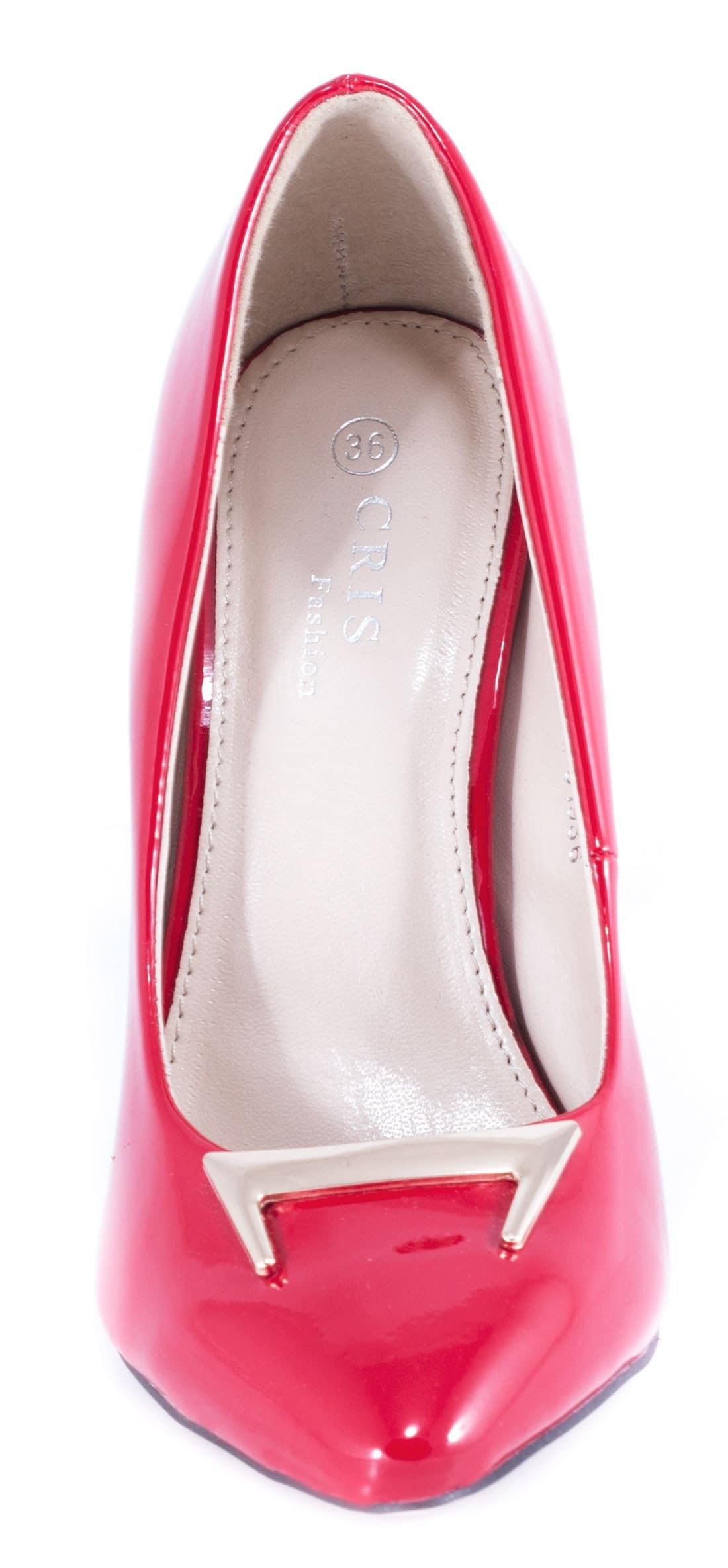 Pantofi rosii cu toc 51936R
