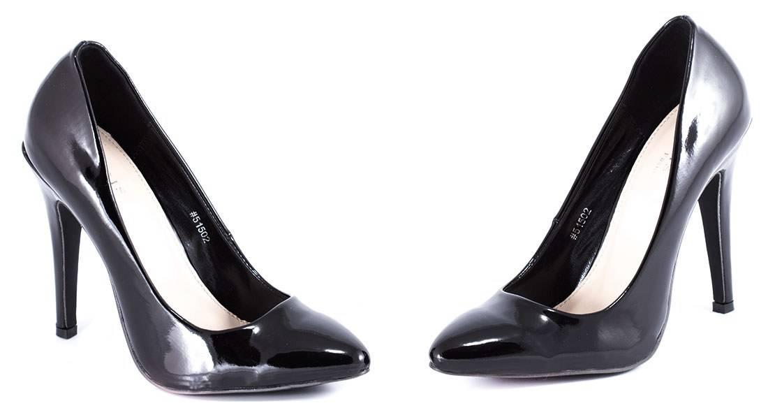 Pantofi negri cu toc 51502N