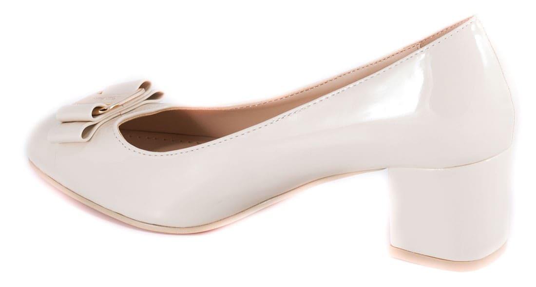 Pantofi bej cu fundita 51708B