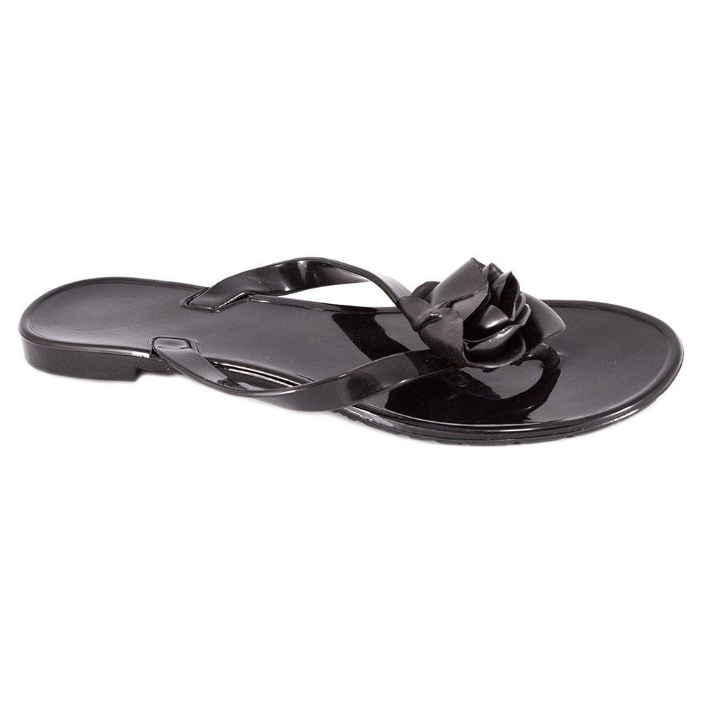 Papuci negri din cauciuc P232N