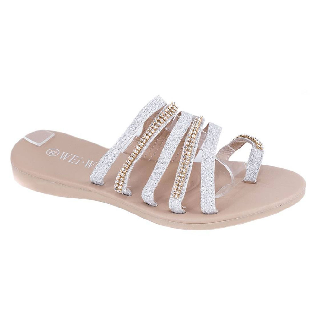 Papuci silver de dama P304S