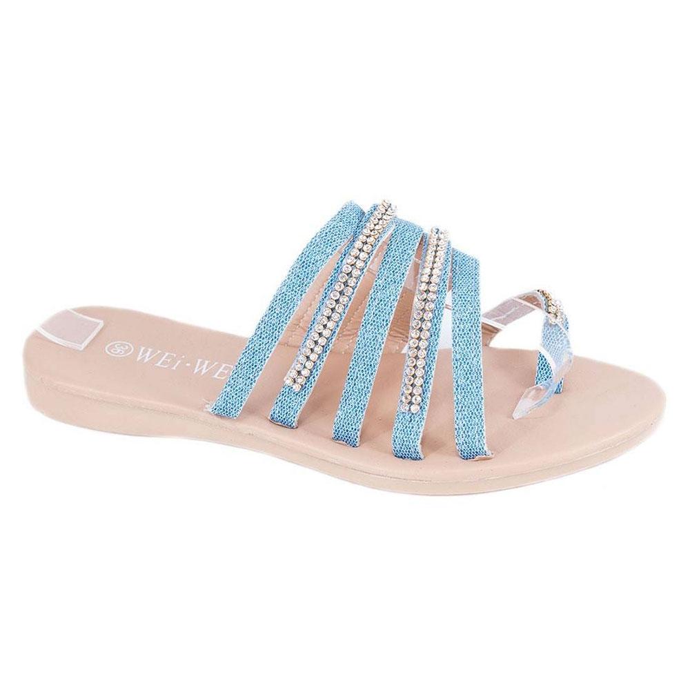 Papuci albastri de dama P304A