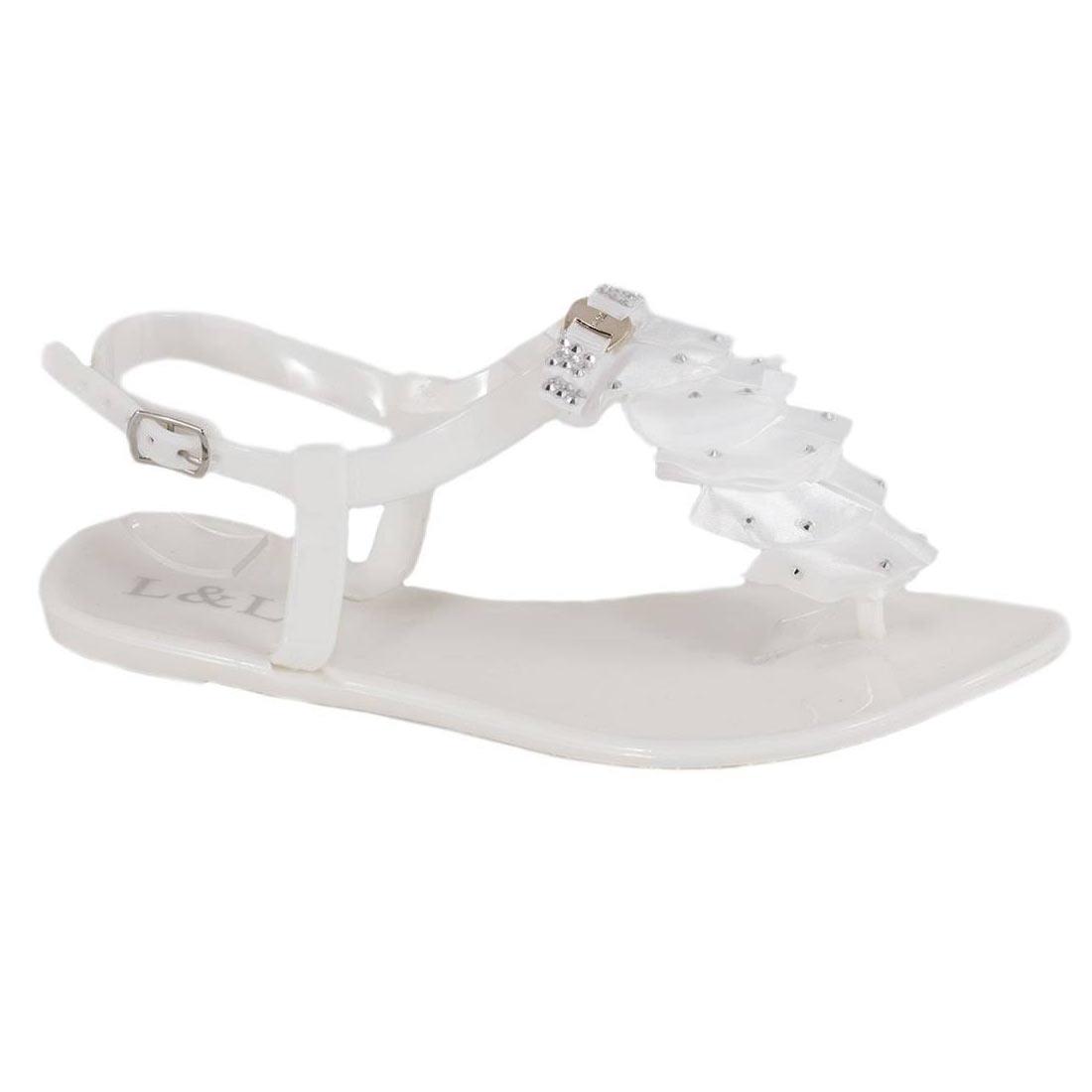 Sandale din cauciuc albe 268A