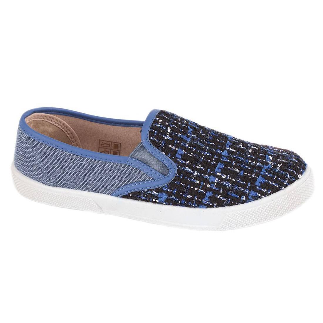 Espadrile albastre de dama 858A