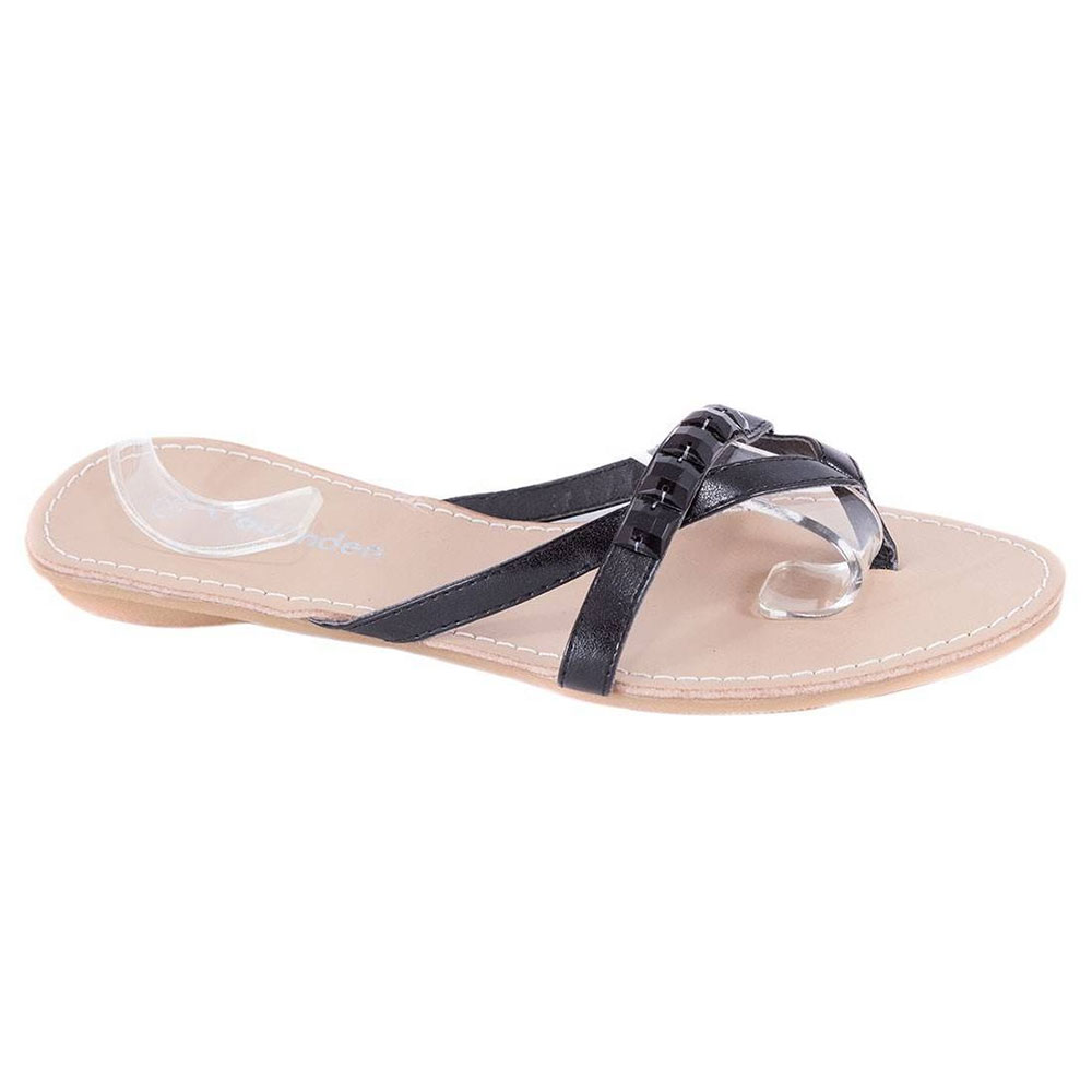 Papuci negri de dama B09242-32N