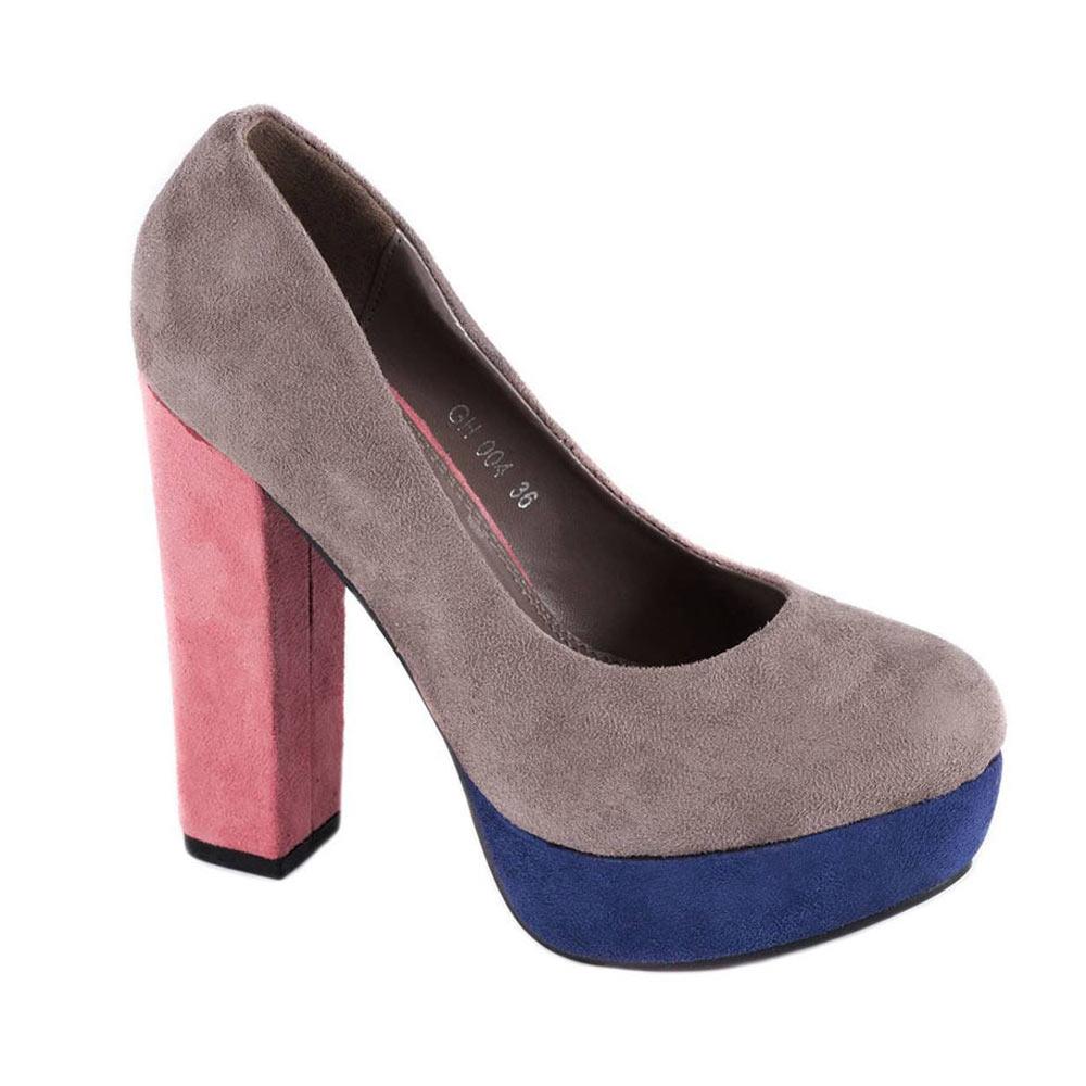 Pantofi kaki cu platforma GH004K