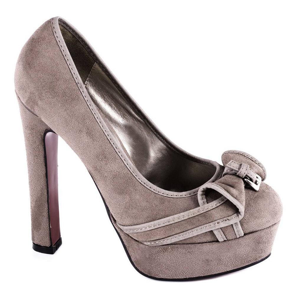 Pantofi kaki cu platforma H058K