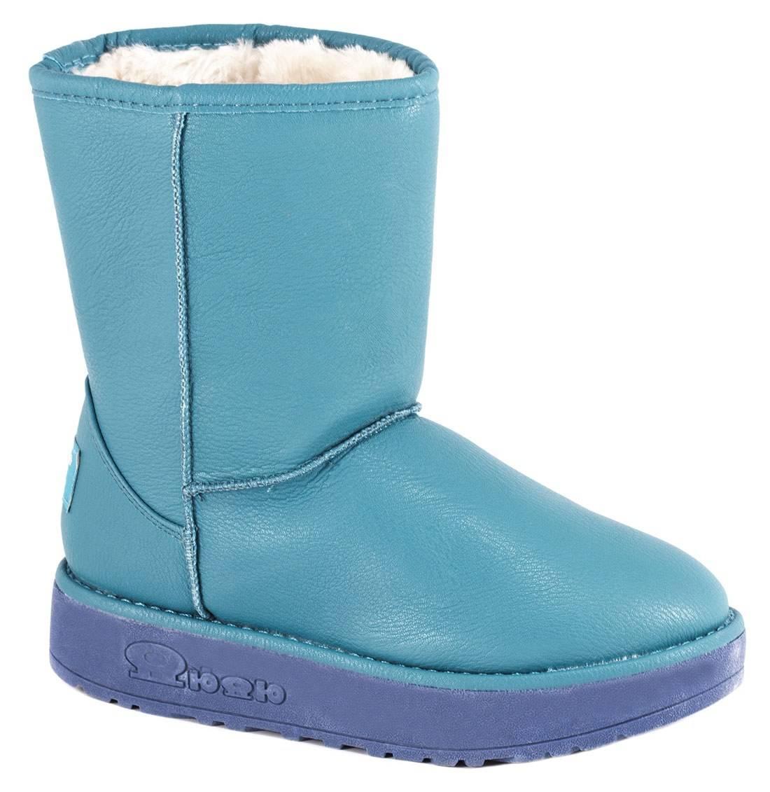 Cizme albastre tip UGG 066DEEP-BLUE