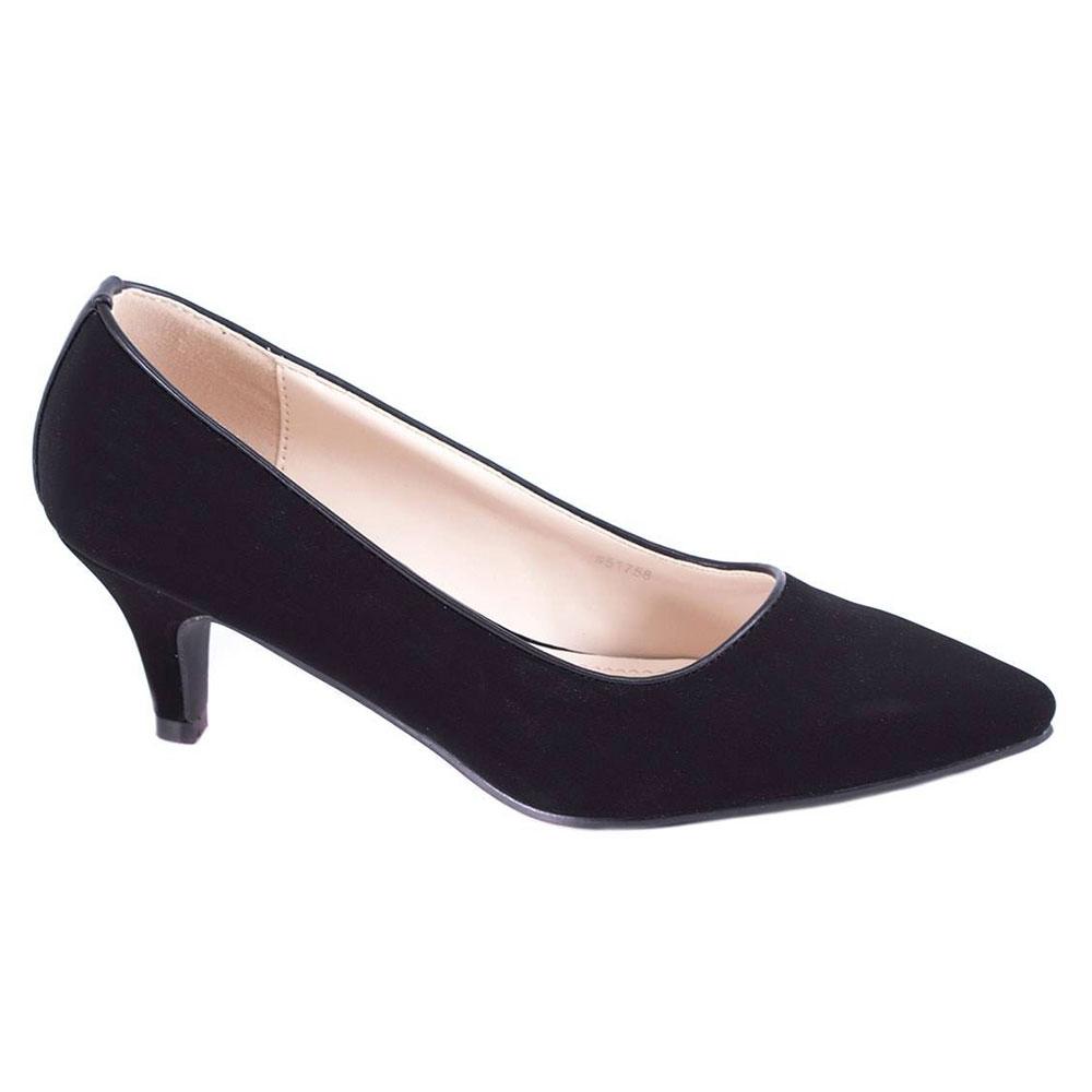 Pantofi negri cu toc 51758N