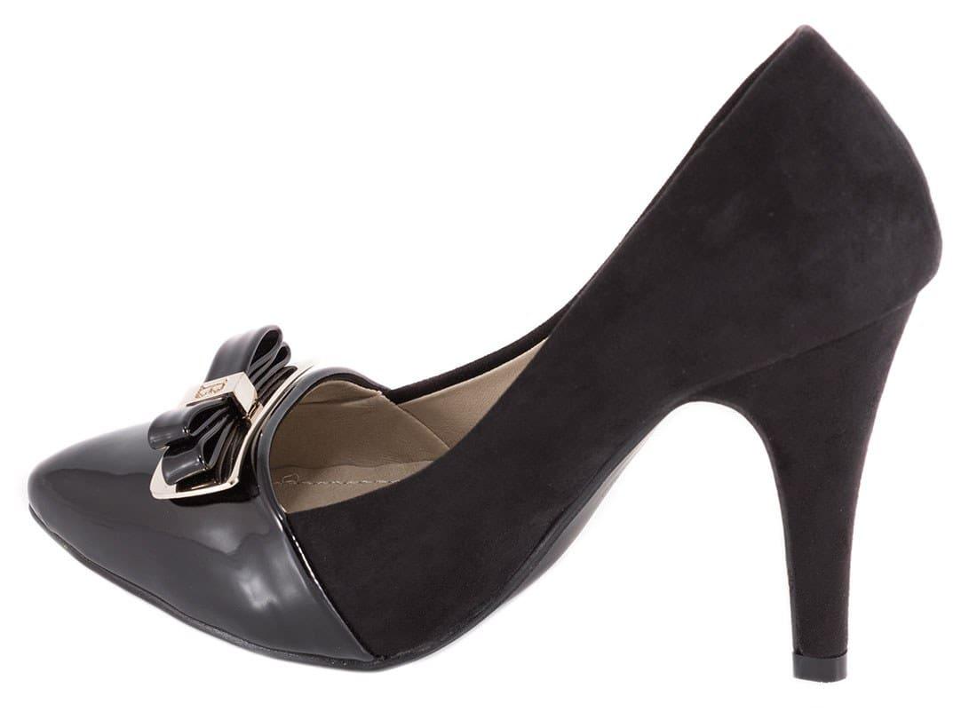 Pantofi negri cu toc 91479-F42N