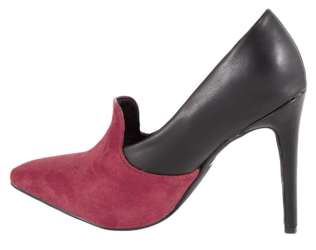Pantofi Stiletto negri cu toc EK-76N