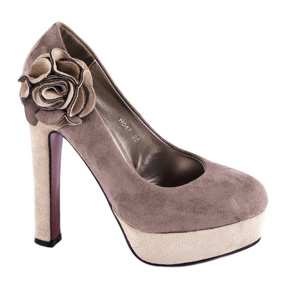 Pantofi kaki cu platforma H047K