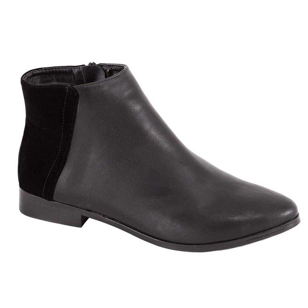 Ghete de dama negre comode 92467-1NP-SS