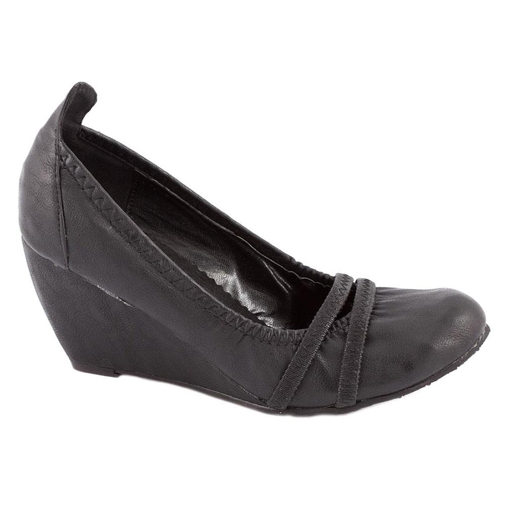 Pantofi negri cu talpa ortopedica P102N