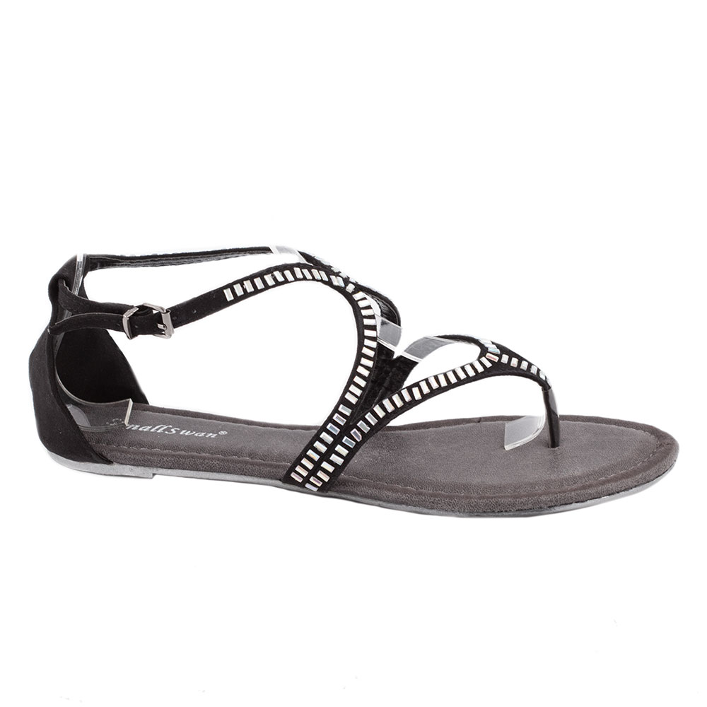 Sandale negre de dama BM170N