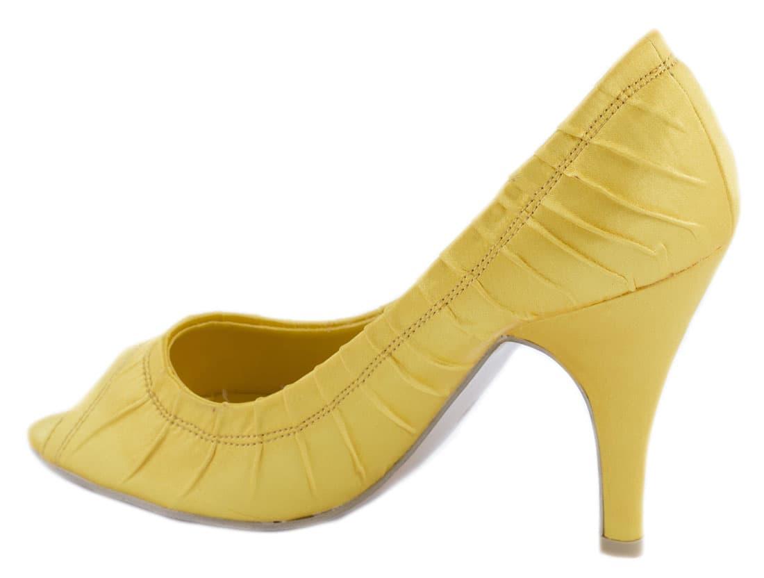 Pantofi galbeni cu toc 24583G