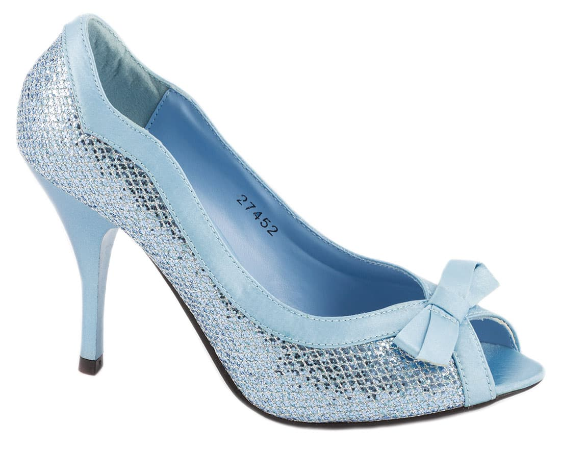 Pantofi albastri cu toc 27452LT-B