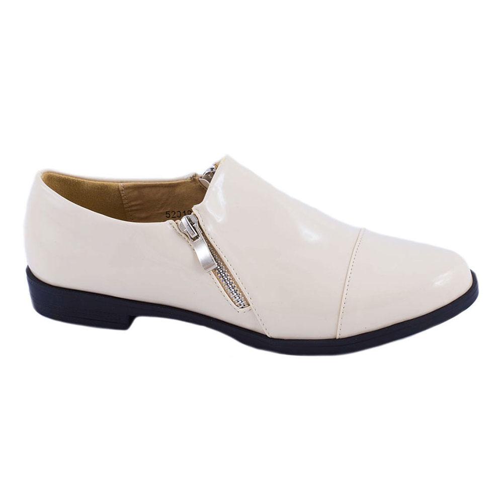 Pantofi bej de dama 52019B