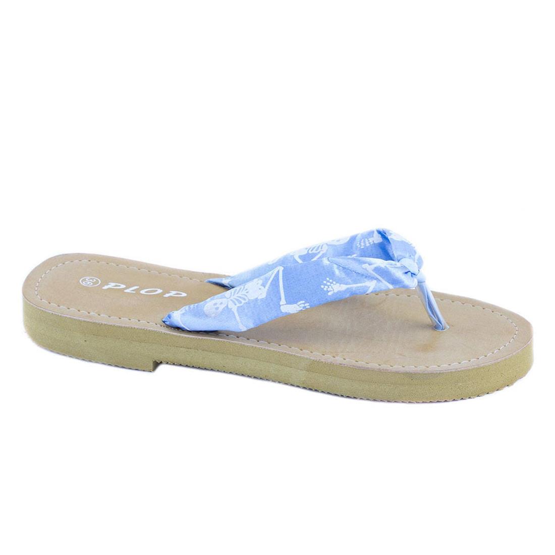 Papuci albastri de dama YD1748B