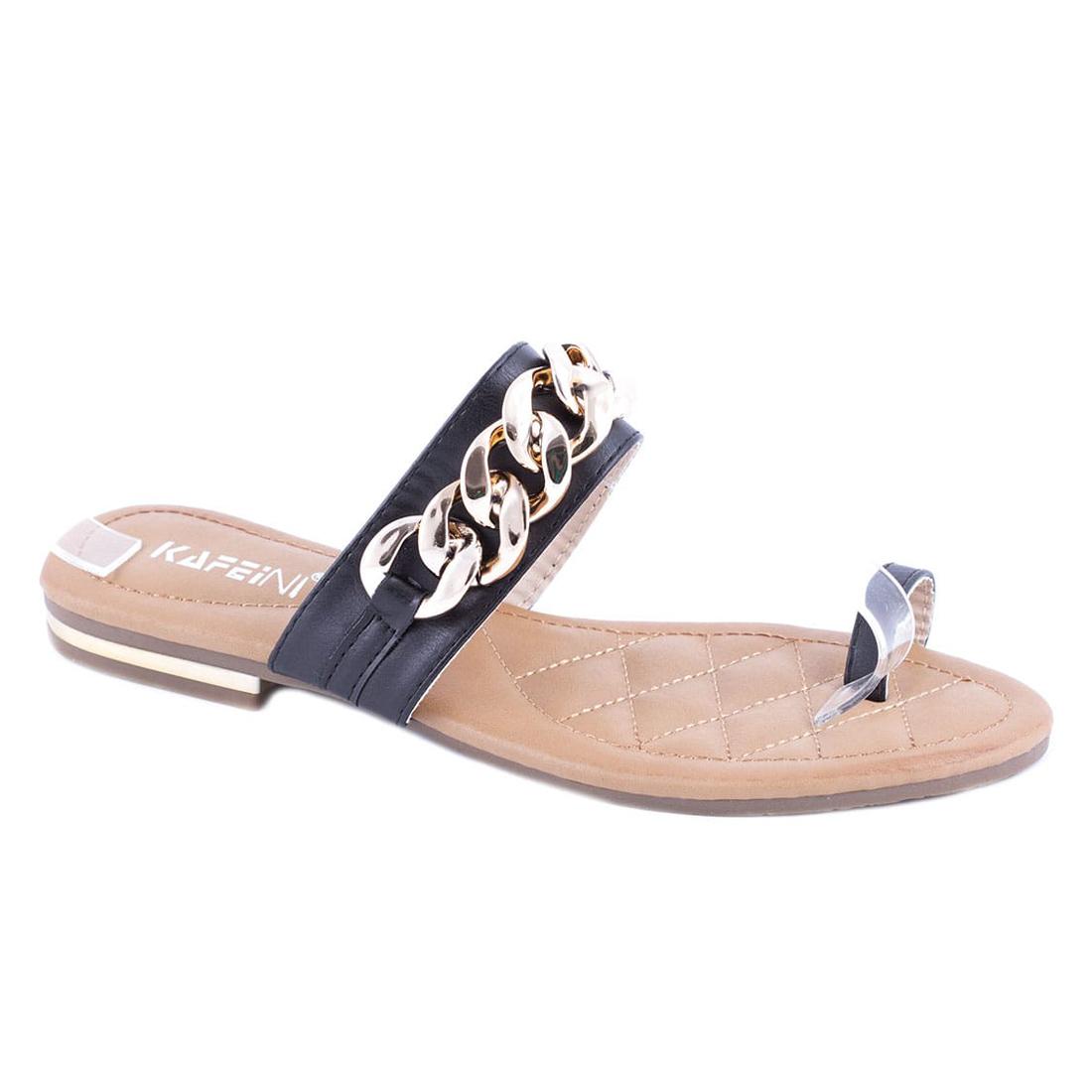 Papuci de dama negri KF69-105N