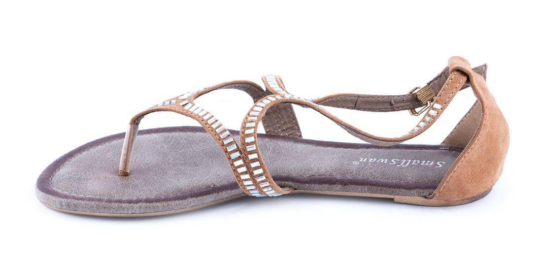Sandale camel de dama BM170C