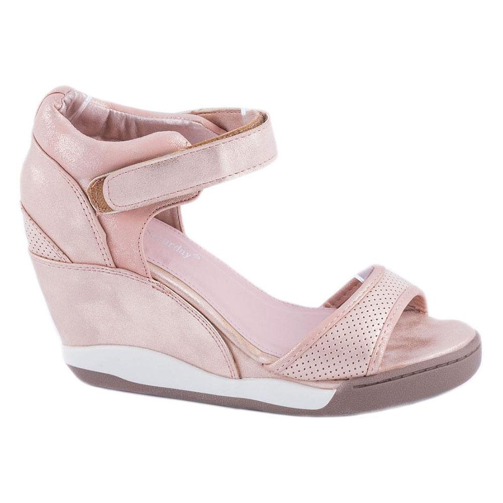 Sandale roz cu talpa ortopedica LL-09R