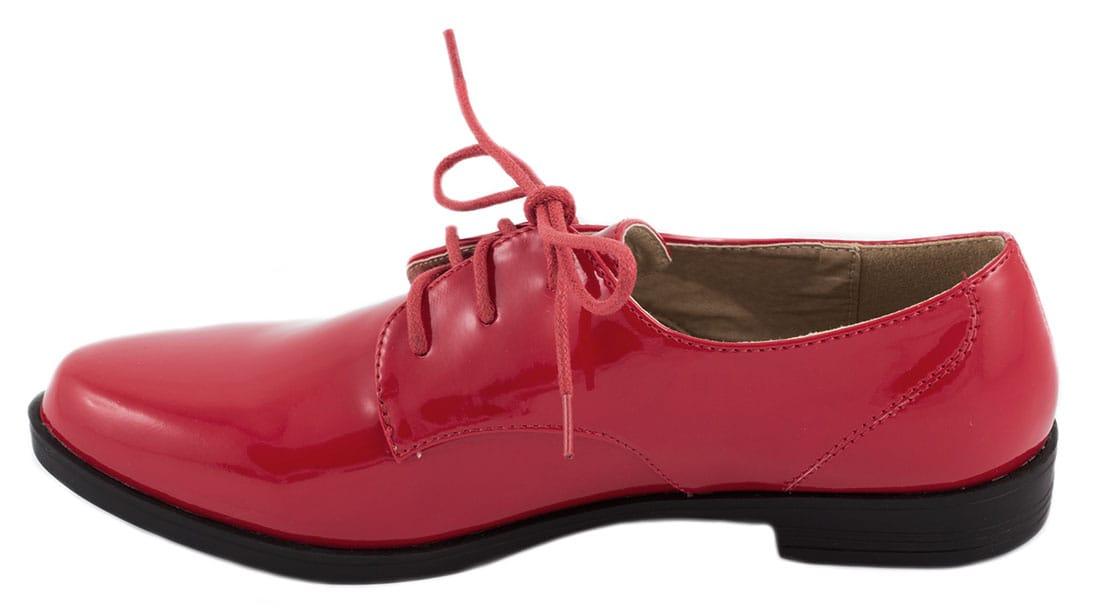 Pantofi rosii cu siret 52020R
