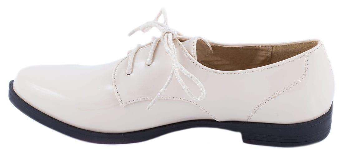 Pantofi bej cu siret 52020B