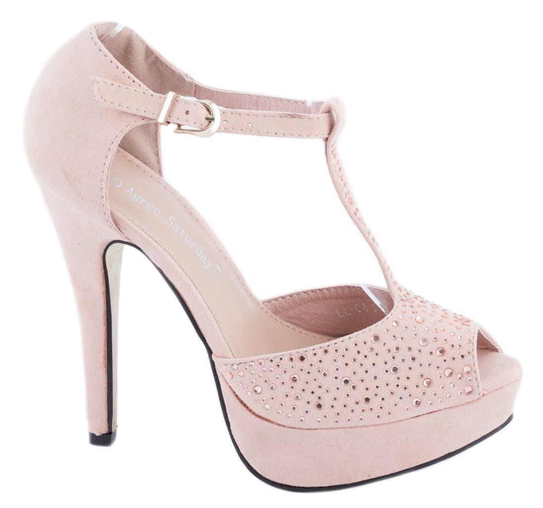 Sandale roz cu platforma LL-04R