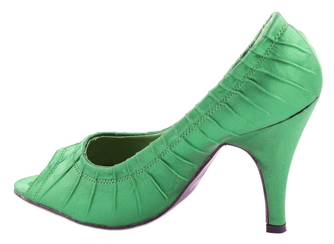 Pantofi verzi cu toc 24583V