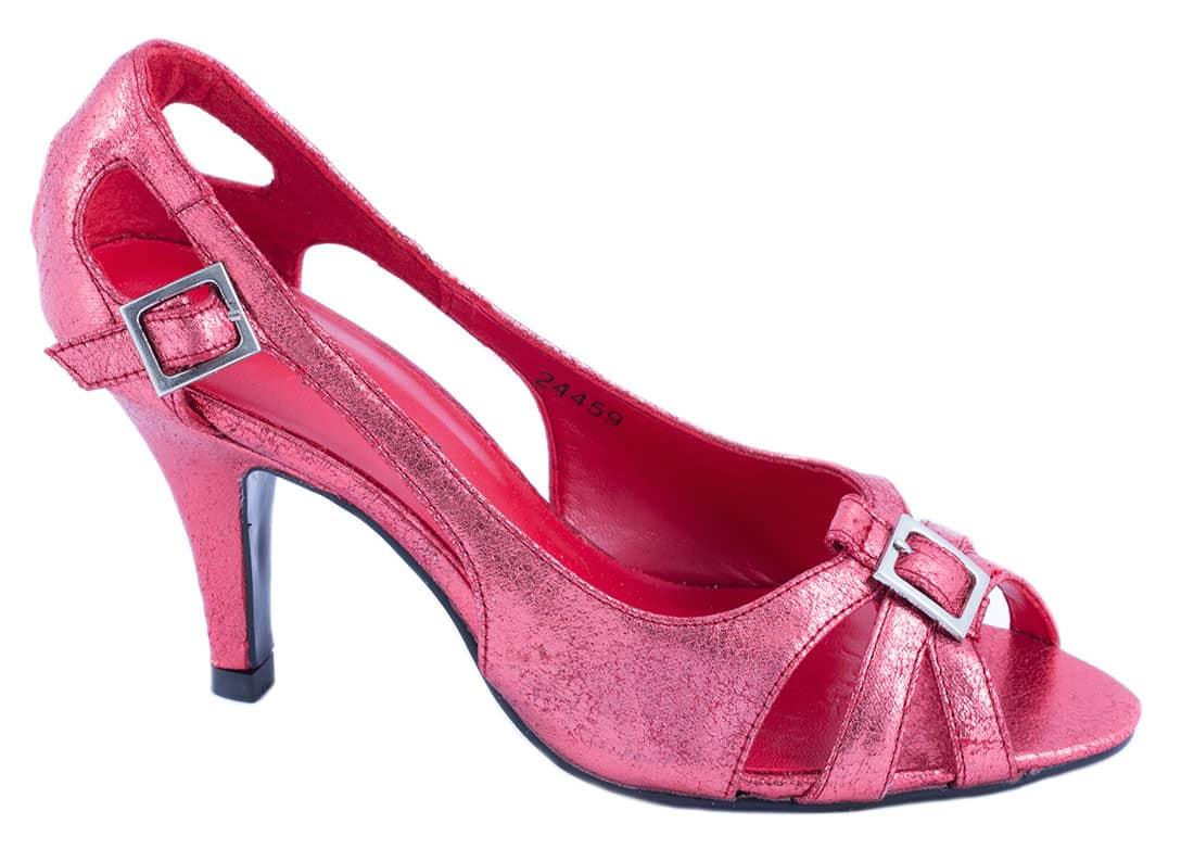 Pantofi rosii cu toc 24459R