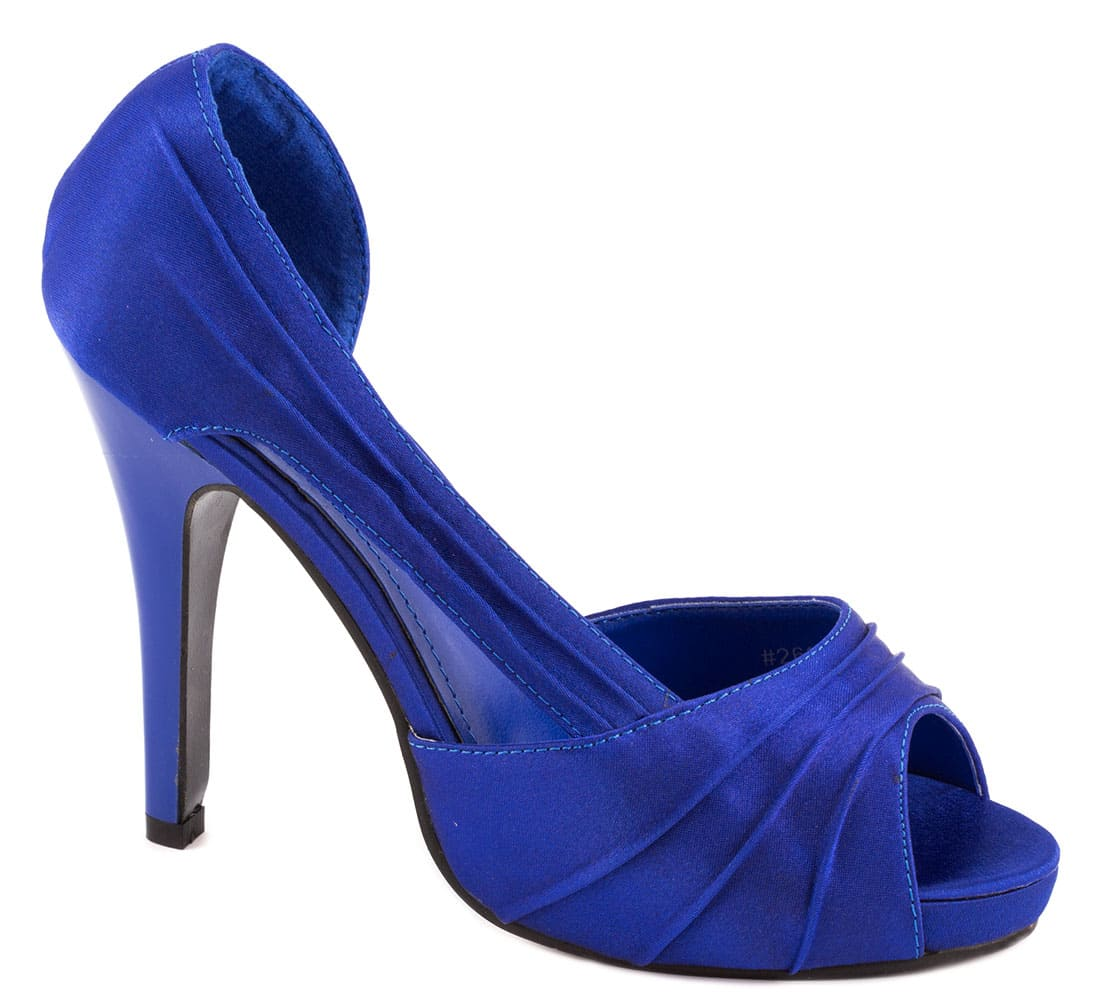 Pantofi albastri cu toc 26918-1RB