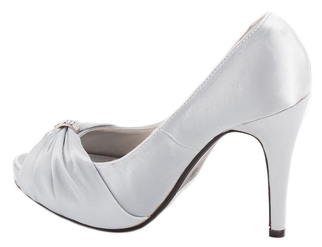 Pantofi silver cu toc 27842S