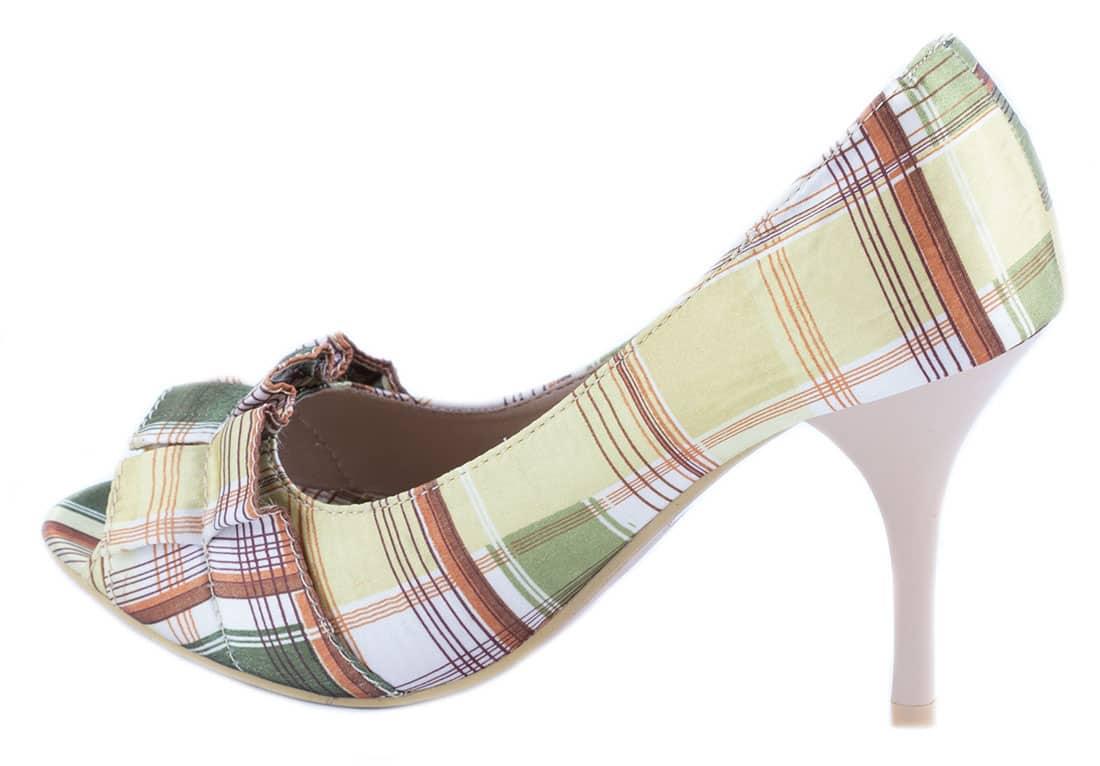 Pantofi apricot cu toc 27454A