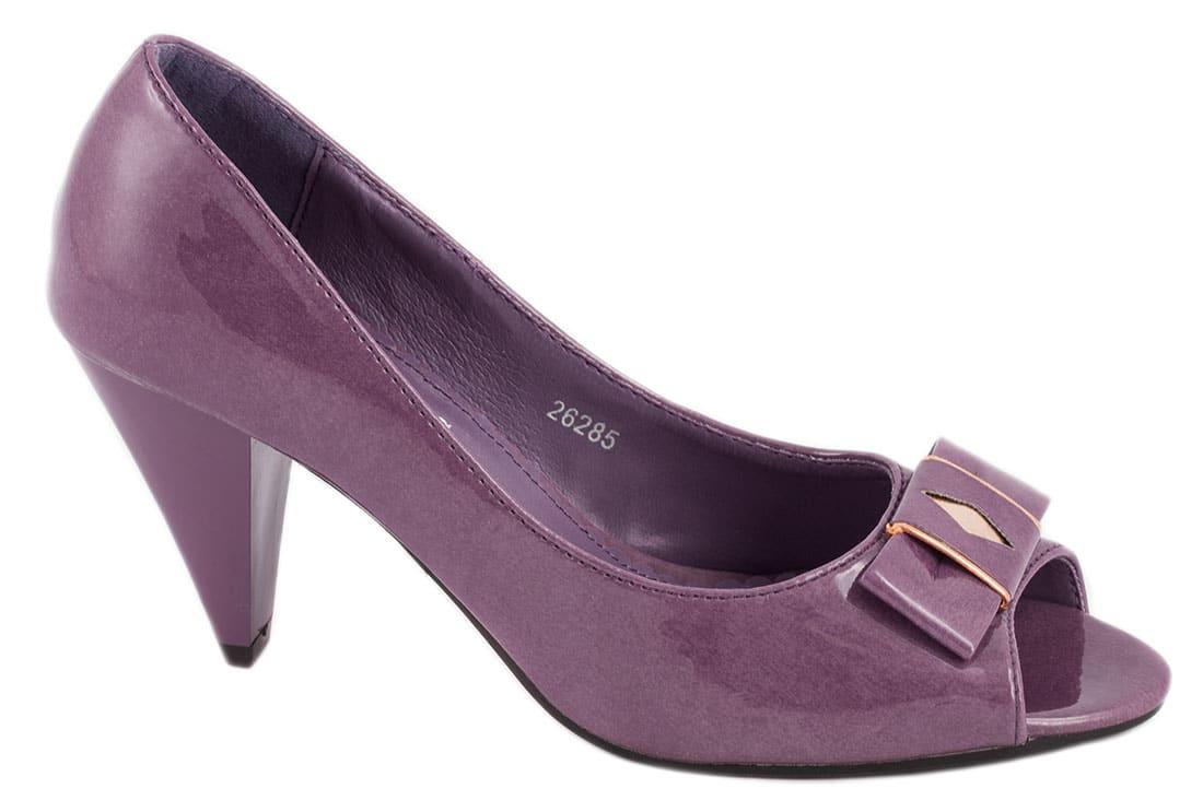 Pantofi purple cu toc 26285P