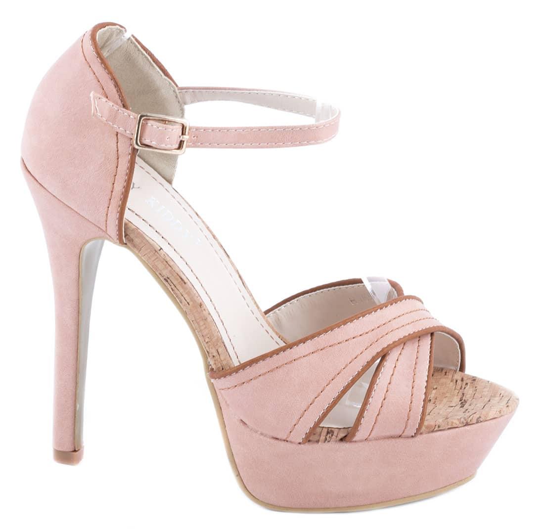 Sandale dama roz cu bareta H165-3R