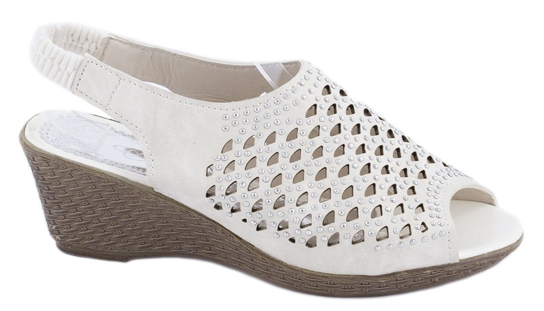 Sandale de dama cu talpa ortopedica WB-1217BEJ