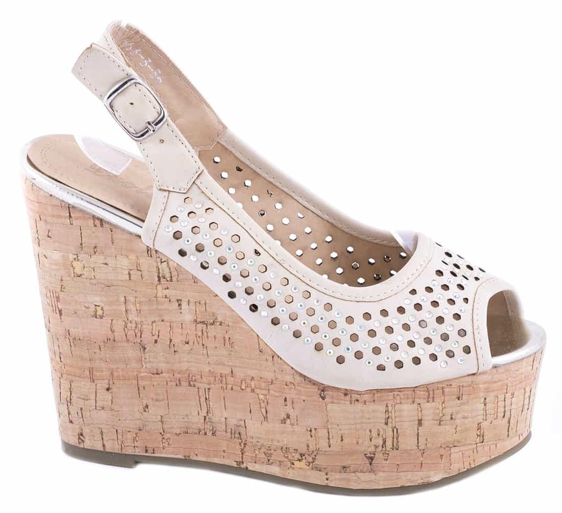 Sandale dama cu platforma 663-3B