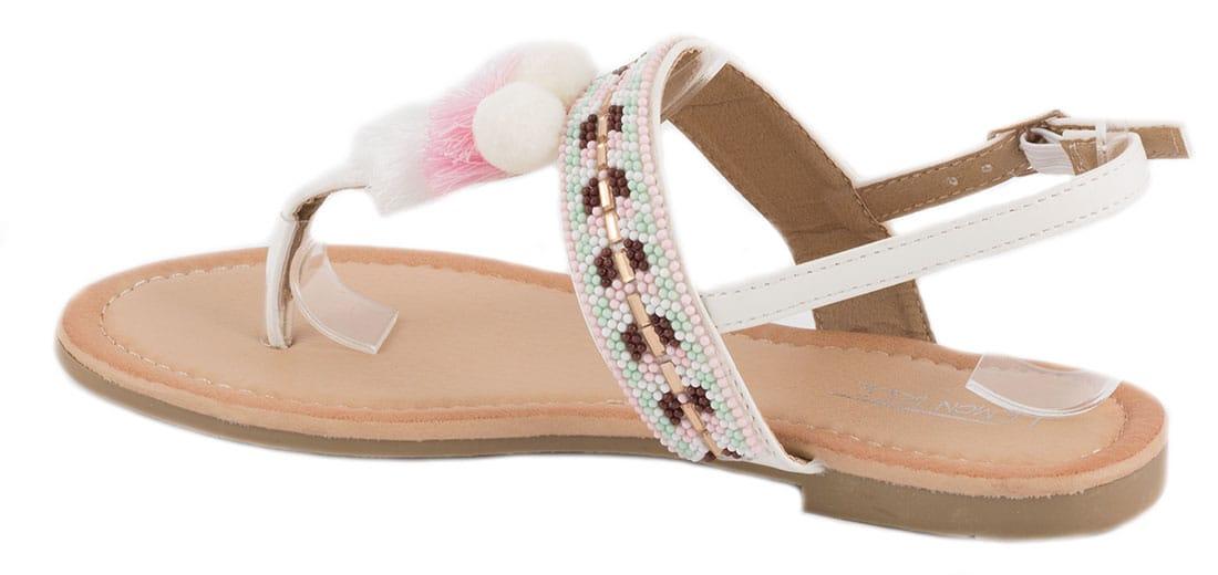 Sandale dama albe PM907-16A
