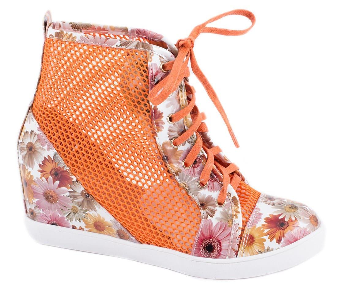 Sneakers de dama cu siret 90037-1O