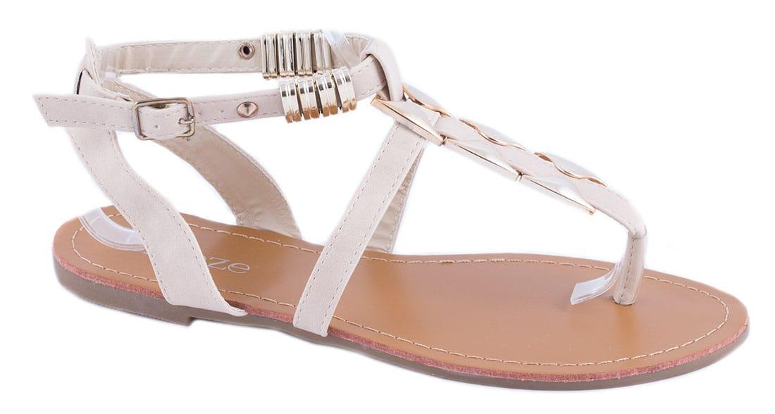 Sandale de dama bej 31-B41543B