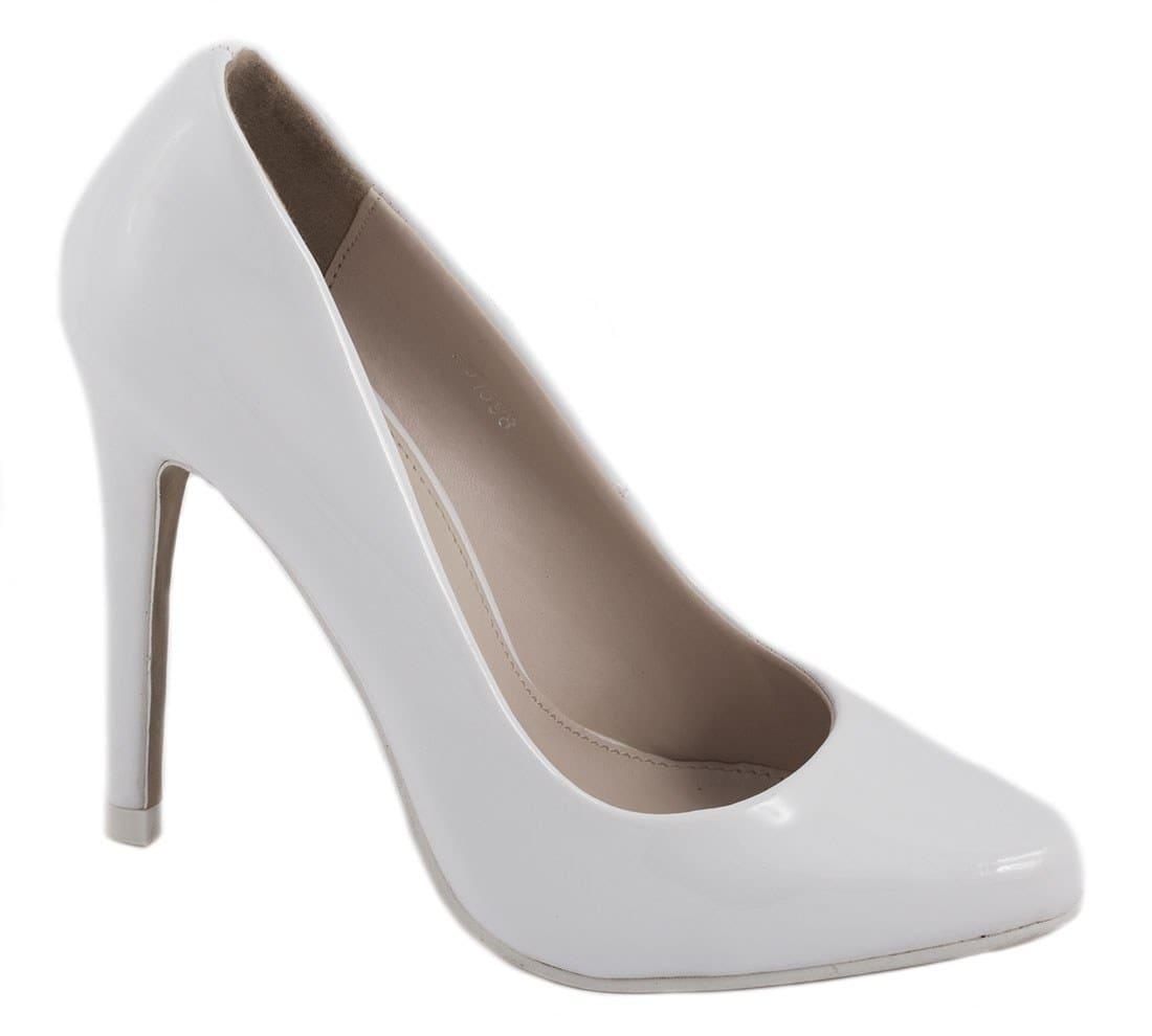 Pantofi de dama cu toc 51598ALB-PT